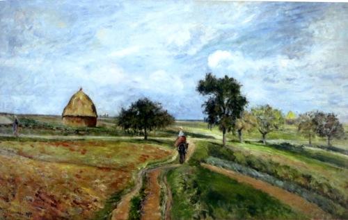 el antiguo camino a Ennery pontoise pissarro