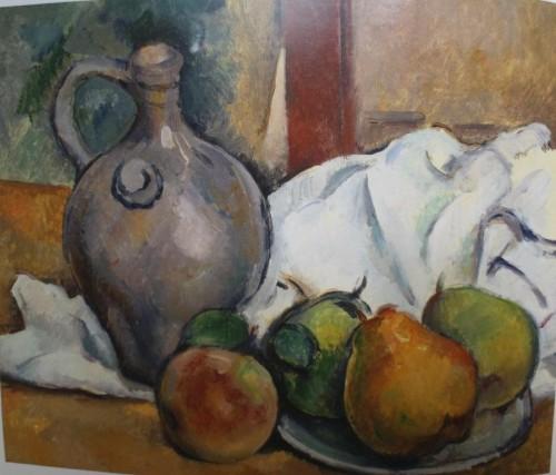 Cezanne cantaro y plato de peras 1890-93