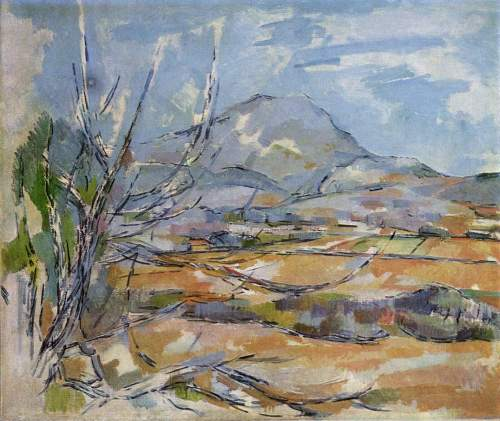 la montaña de sainte-victoire-1887-1